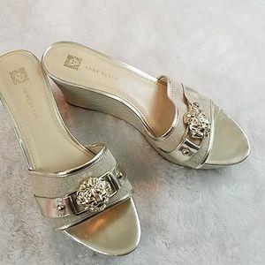 Anne Klein size 9 wedge sandals